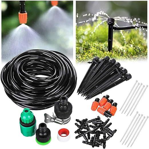 Yissma Kit de riego, Sistema de riego para jardín 20M Bricolaje automático para invernaderos Rociadores de riego por Goteo Riego de jardín para el jardín, Lecho de Flores, Plantas de terraza: Amazon.es: