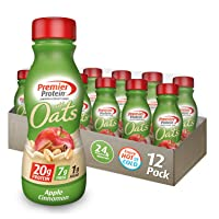 Premier Protein 20g Protein Shake with Oats, Apple Cinnamon, 11.5 Fl Oz Bottle,...