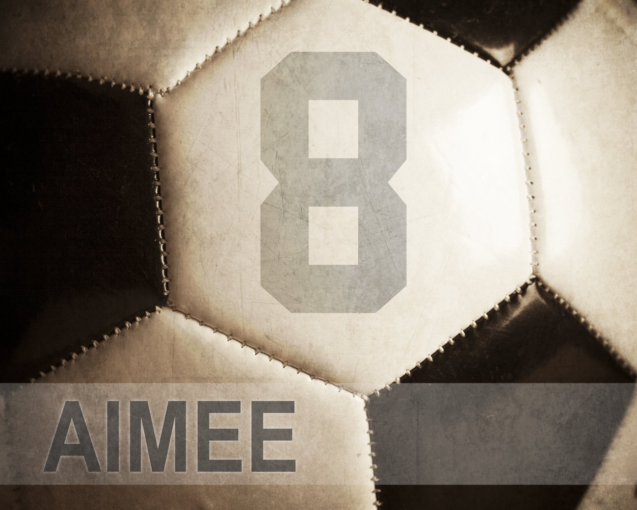 Personalized Soccer gift Wall Art Sports Decor Soccer gift for kids Customized with Name