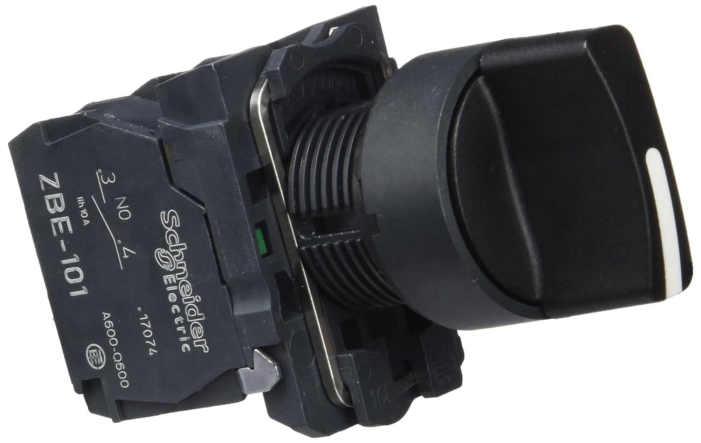 noir 22 mm diam/ètre de fixation 3 positions Schneider Electric XB5AD33 Harmony bouton tournant 2F /à manette