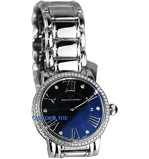 david yurman womanu0027s steel u0026 st silver large watch black mop diamond 38mm new