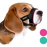 BRONZEDOG Soft Padded Dog Muzzle Adjustable Neoprene Comfort Bitting Chewing Pet Muzzles for Small Medium Large Dogs…