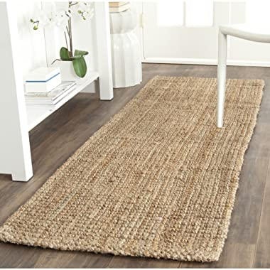 Safavieh Natural Fiber Collection NF747A Hand Woven Natural Jute Runner (2'3  x 7')