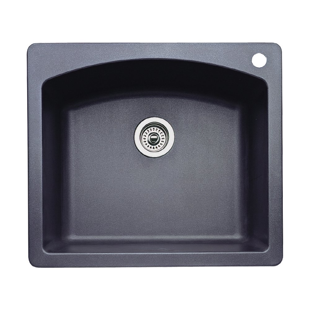 Blanco 440210 Diamond Single Basin Drop In Or Undermount Granite Kitchen  Sink, Anthracite     Amazon.com