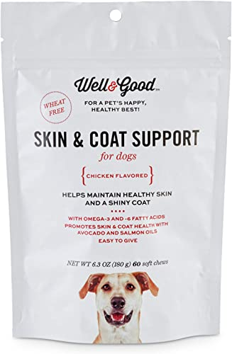 Well Good Skin Coat Support Dog Chews, 60 Count