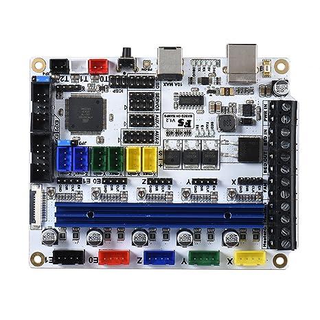 Amazon com: Walmeck Motherboard, F5 V1 2 PCB 3D Printer Motherboard