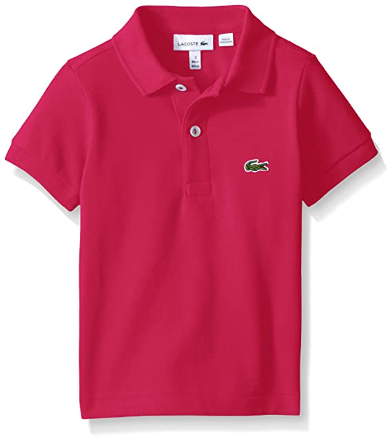 2f285c720 Lacoste Little Boys Short Sleeve Classic Pique Polo Shirt, Bright Berry  Pink, 1