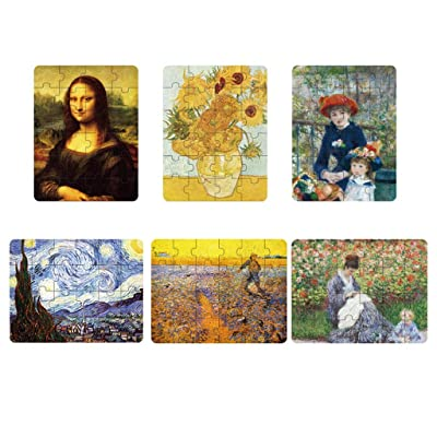 YE ZI Jigsaw Puzzles- Children's Classic World Famous Painting Puzzle,6 Themes,Educational & Developmental Toys for Kids Big Gift for Boys and Girls (Color : Multi-Colored ): Toys & Games