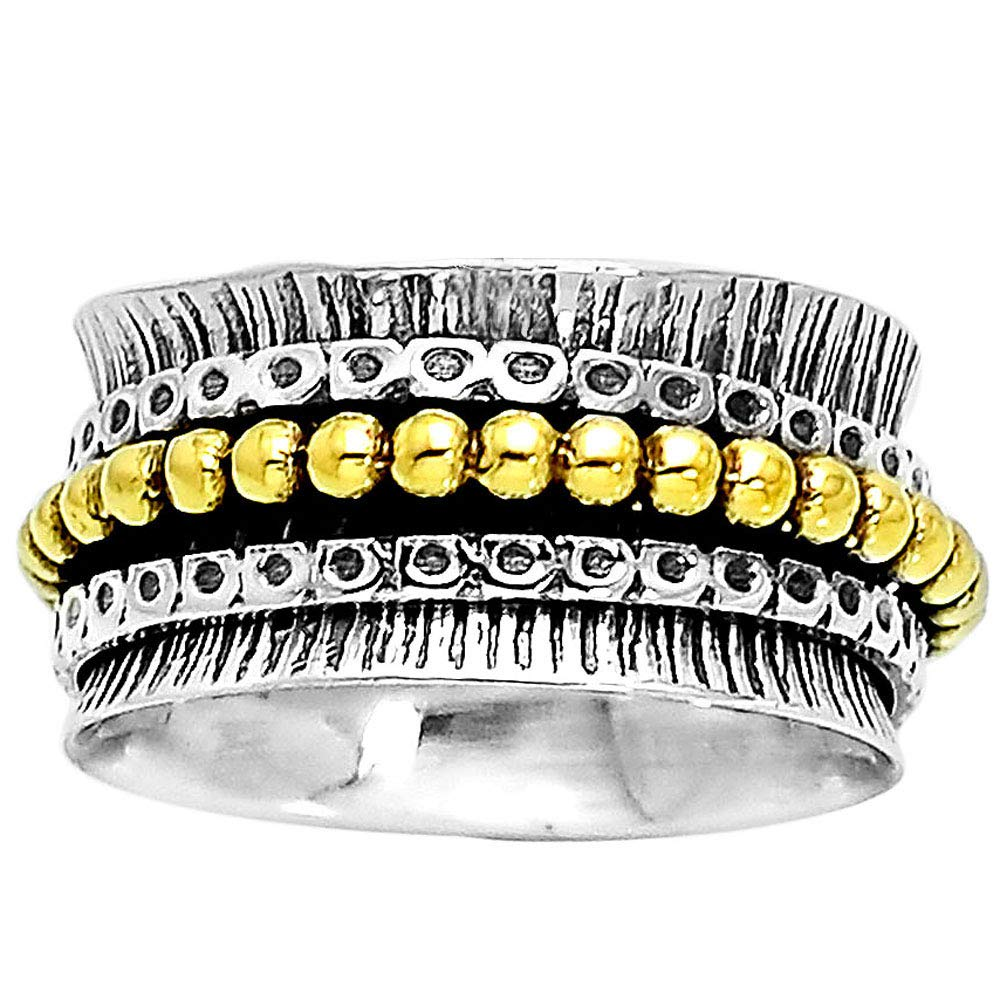 7 Desiregem Anti Anxiety and Worry Less Spinner Ring Spinning Size DGR1022