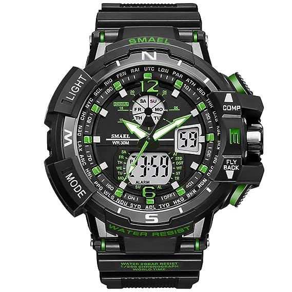 mejor elección gama muy codiciada de zapatos para correr PAPAKOO Reloj de Pulsera Hombre Reloj Deportivo Militar Reloj Smart Moda  Reloj de Pulsera Reloj Pulsera Digital LED