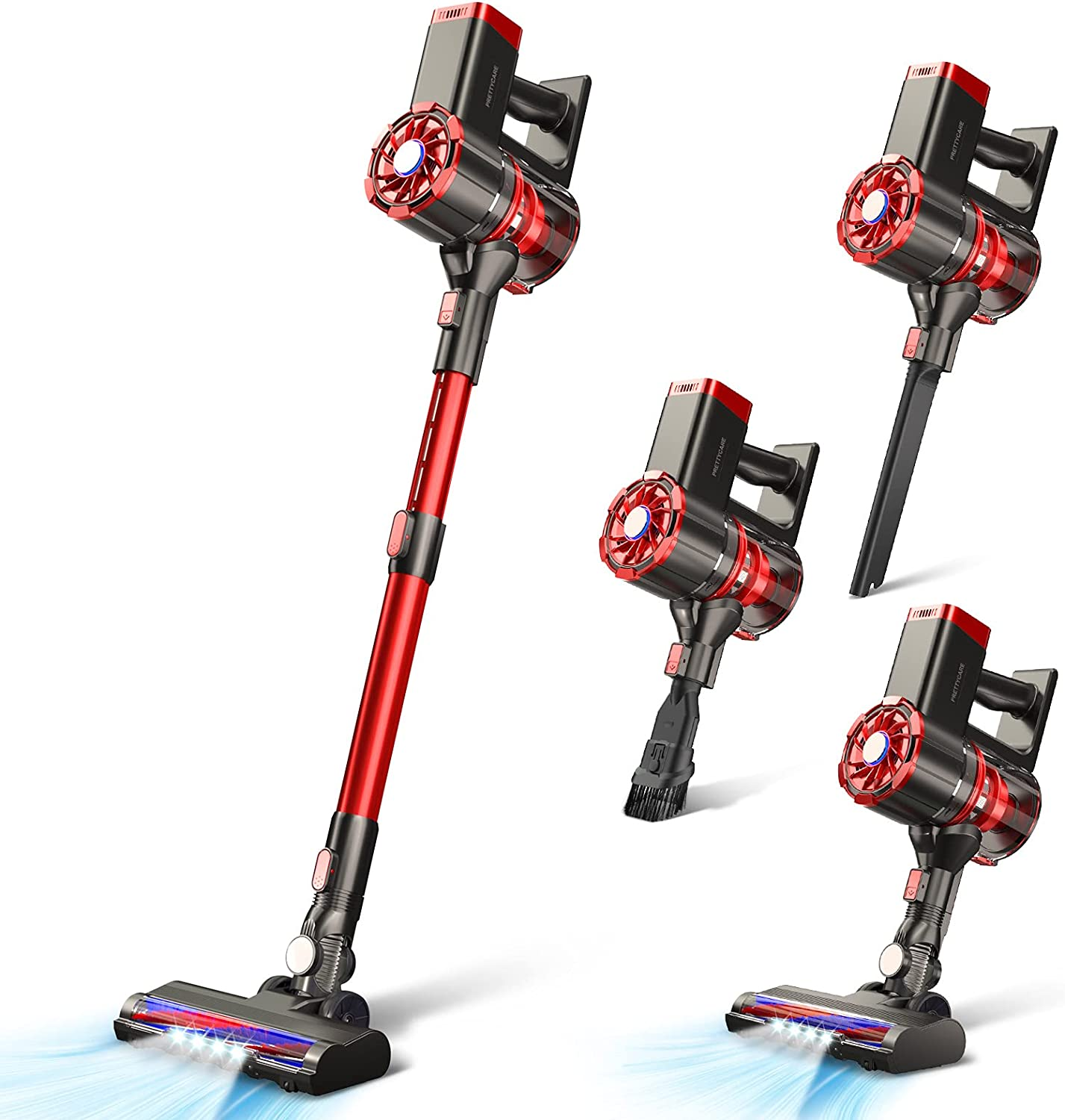 PrettyCare 4 in 1 20Kpa W100 Cordless Vacuum Cleaner $119.99 Coupon