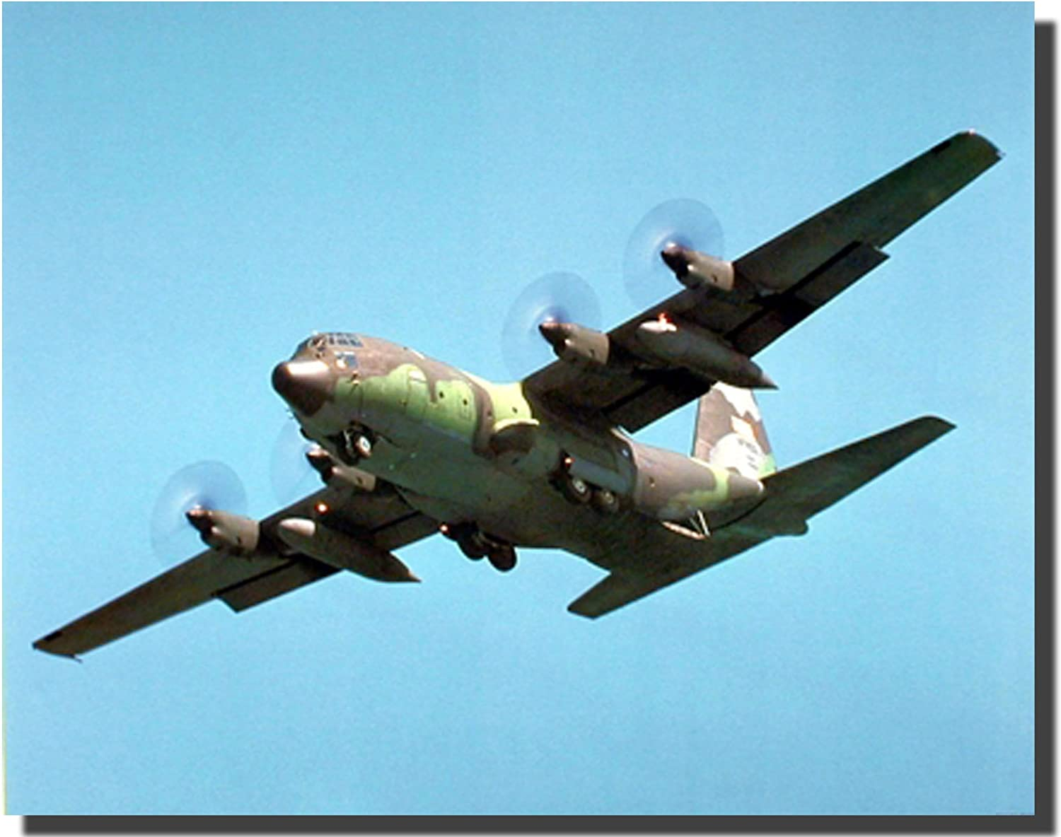 Military C-130 Cargo Airplane Aviation Aircraft Wall Decor Art Print 16x20