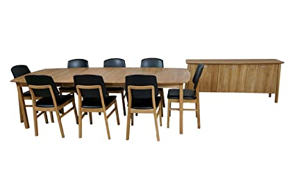 Scandinavian Dining Set, Credenza, 8 Chairs U0026 Large Table.