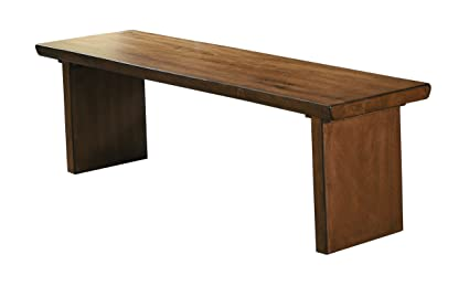 Homelegance Tod 60u0026quot; Dining Bench Distressed Wood Finish, ...