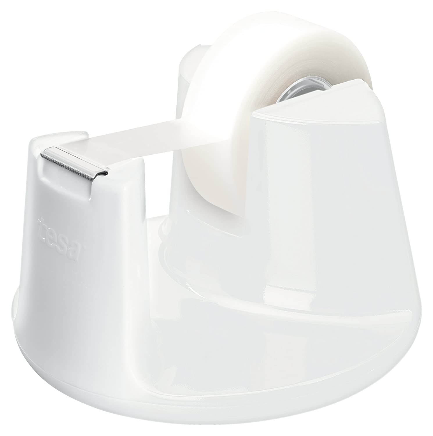 Amazon.com : Tesa Easy Cut Compact 53838-00000-00 Tape Dispenser 1 Matt Opaque 33 m x 19 mm White : Office Products