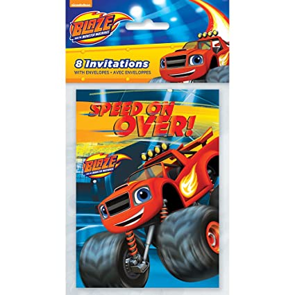 Amazon Com Blaze And The Monster Machines Party Invitations 8ct