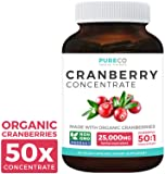 Organic Cranberry Pills - 50:1 Concentrate Equals