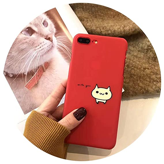 Amazon.com: Cartoon Cute Cat Phone Case Cover Funda for ...