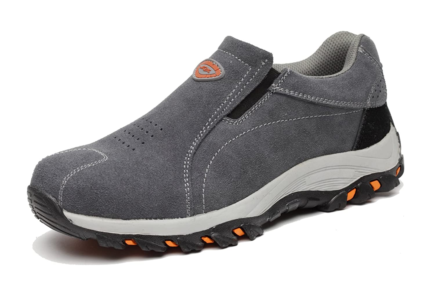 fed62f5f68f2b Mens Safety Shoes Steel Toe Cap Safety Trainers Leather Slip On Work Shoes  Steel Sole Protection Hiking Trainers