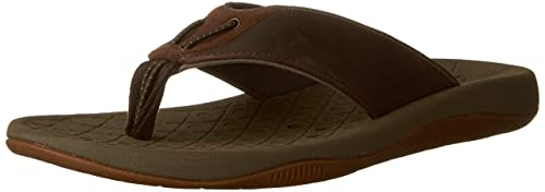 authorized site classic styles size 7 Clarks Men's Bosun Coast Thong Sandal, Brown Cow Nubuck/Cow ...