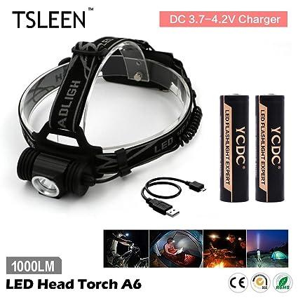Buy Generic No Battery Black Tsleen Led Headlamp Torch 1000lm