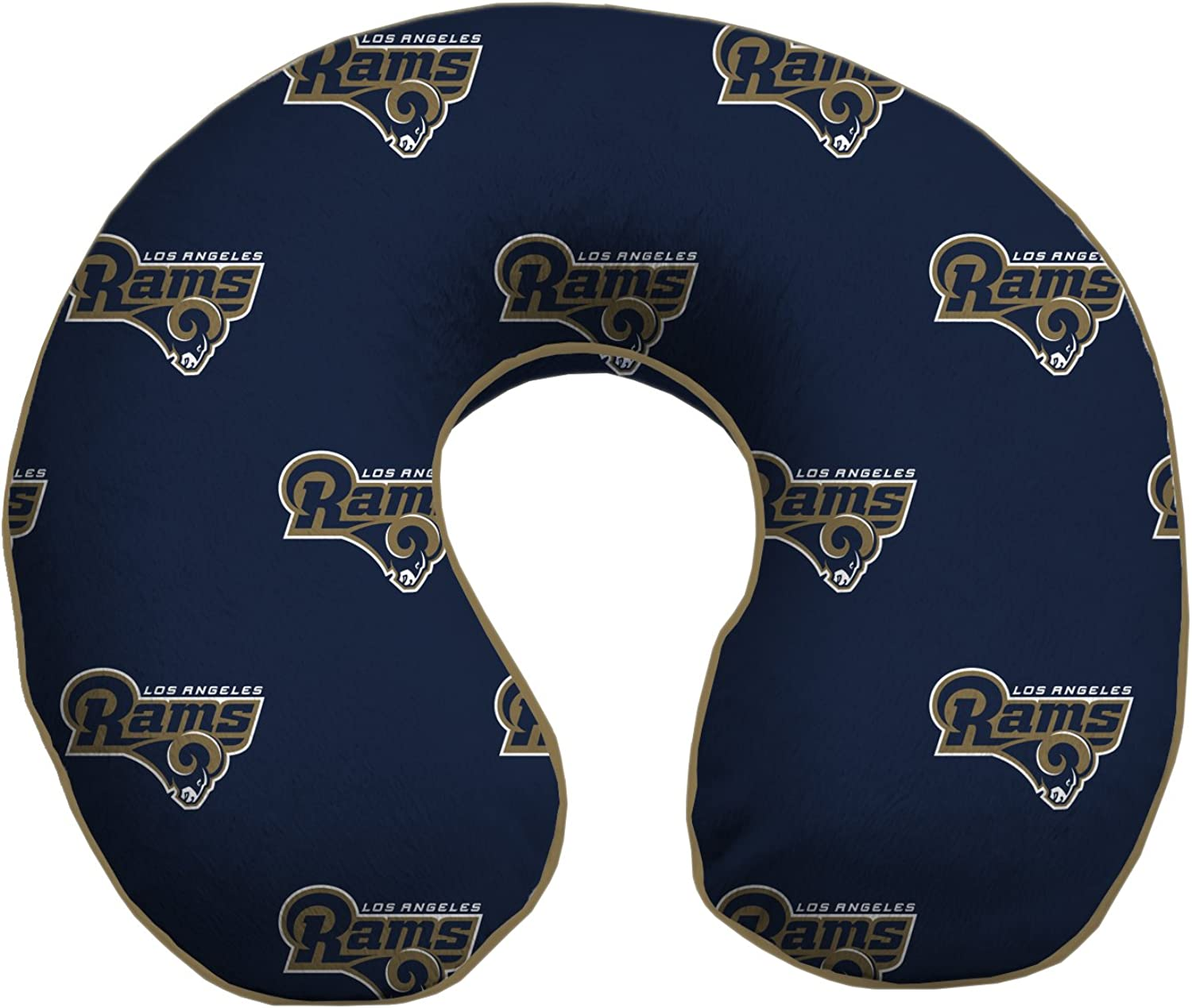 Pegasus Sports NFL Los Angeles Rams U-Neck Memory Foam Travel Pillow