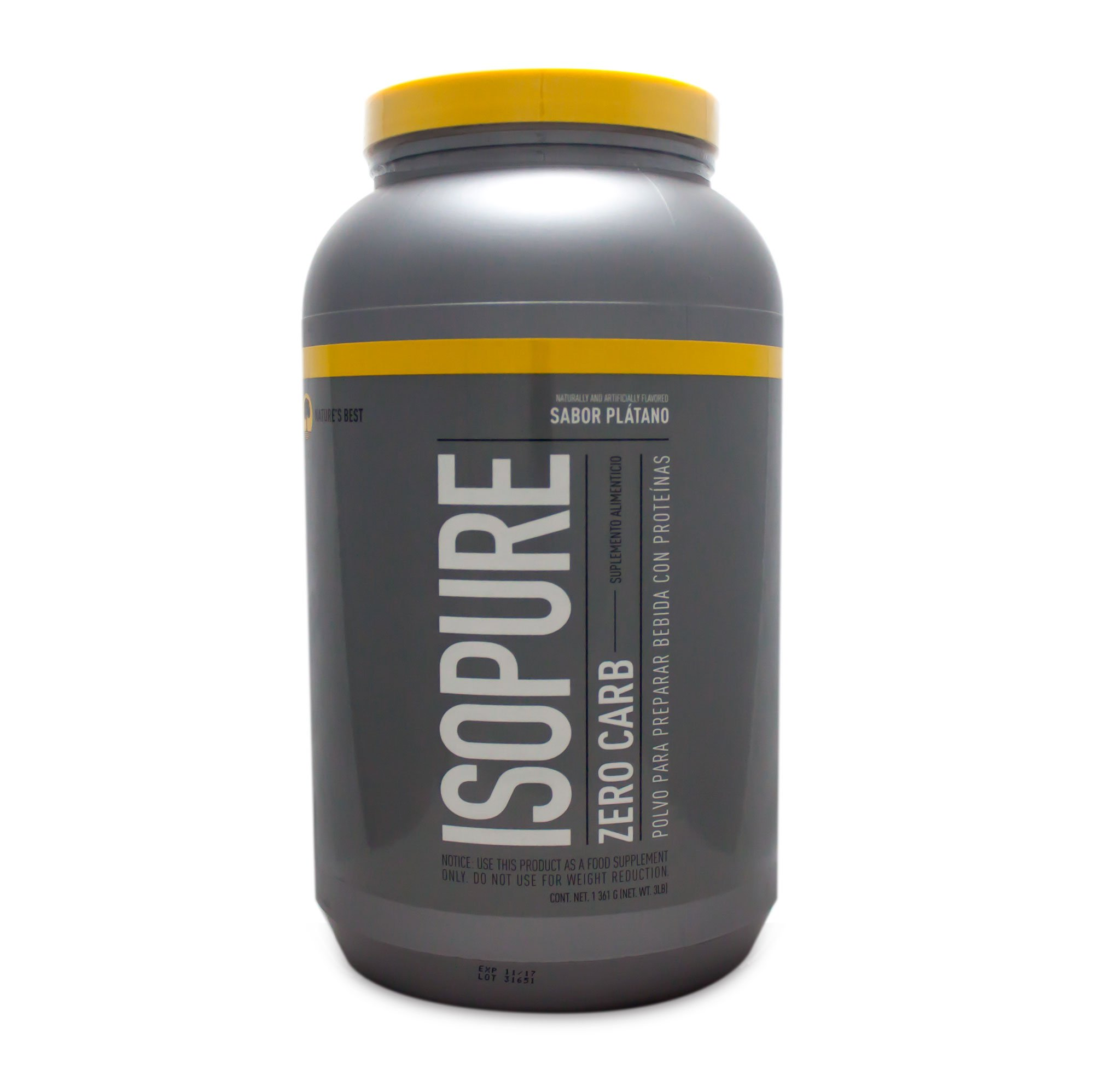 Nature'S Best Isopure Banana Cream (Zero Carb), 3-Pound Tub by Nature's Best, IsoPure