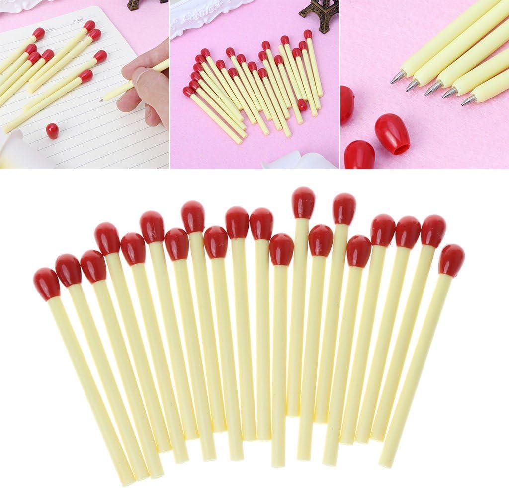 ideali come regalo di cancelleria per la scuola Vivitoch Confezione da 20 penne a sfera a forma di fiammifero
