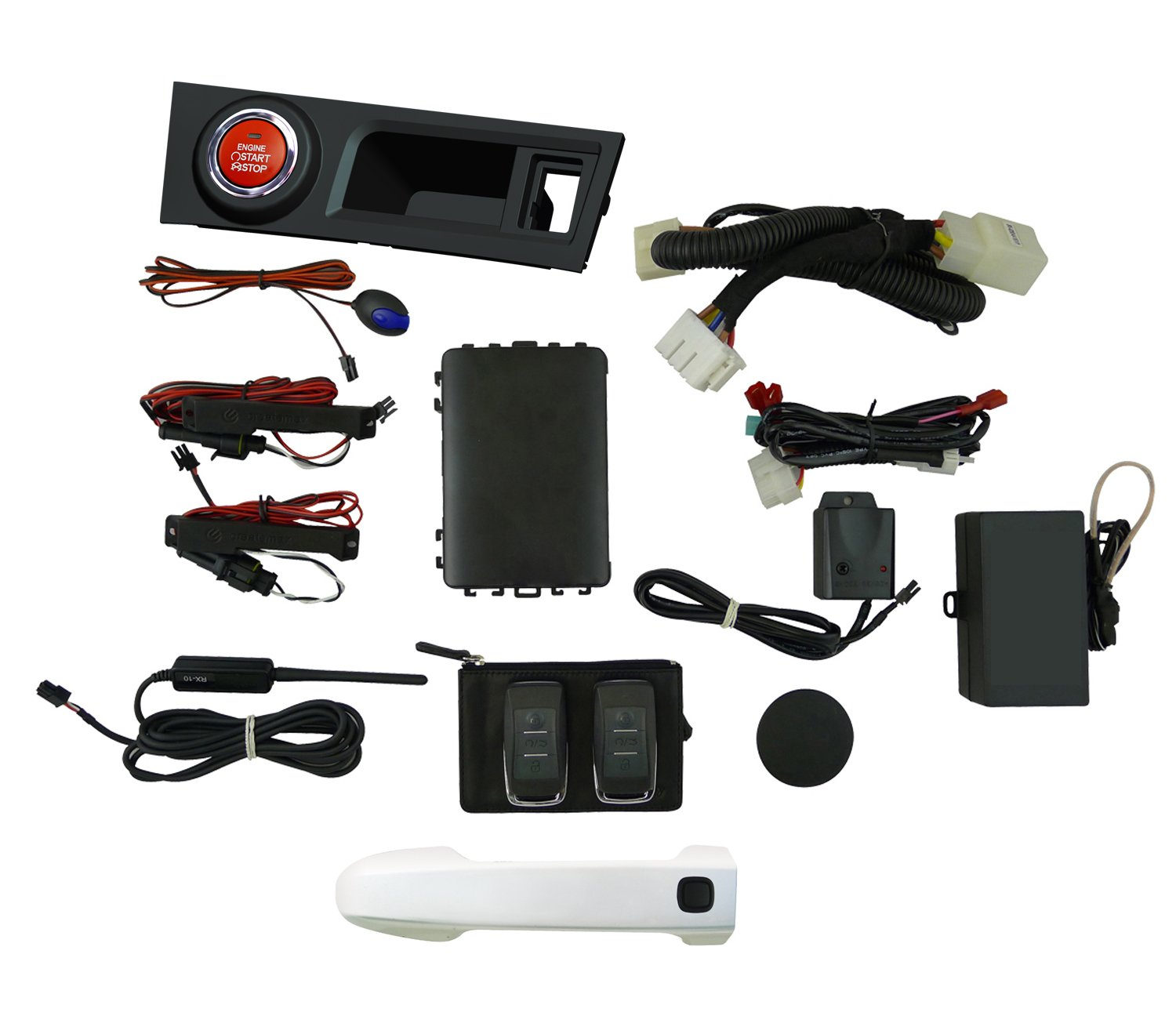 Easygo Am Frs 37j Smart Key Remote Start And Alarm Nissan Titan Install 10 System With Whiteout Drivers Door Handle For Scion Fr S Automotive