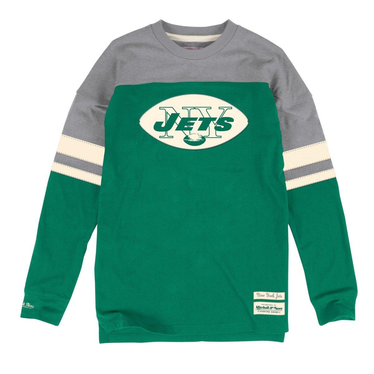 New York Jets Mitchell & Ness NFL「ポンプ」長袖クルーシャツ Medium  B011AT9C4E