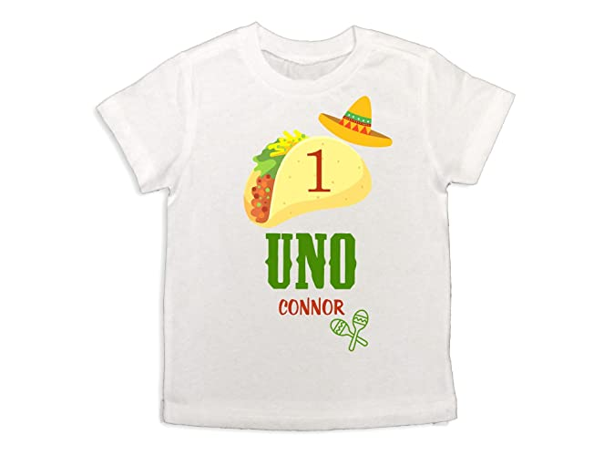 Baby Boy Uno Taco Shirt Fiesta 1st Birthday Boys