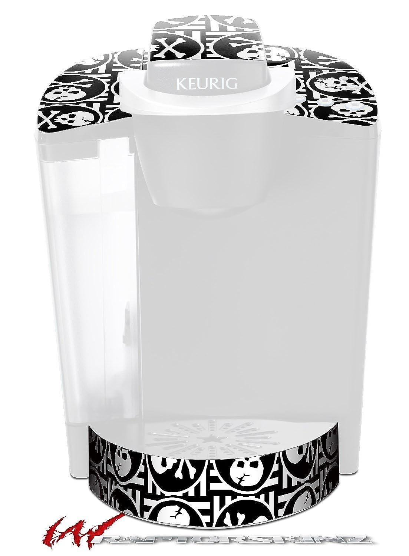 スカルパッチパターンBW – デカールスタイルビニールスキンFits Keurig k40 Eliteコーヒーメーカー( Keurig Not Included )   B017AKBME0