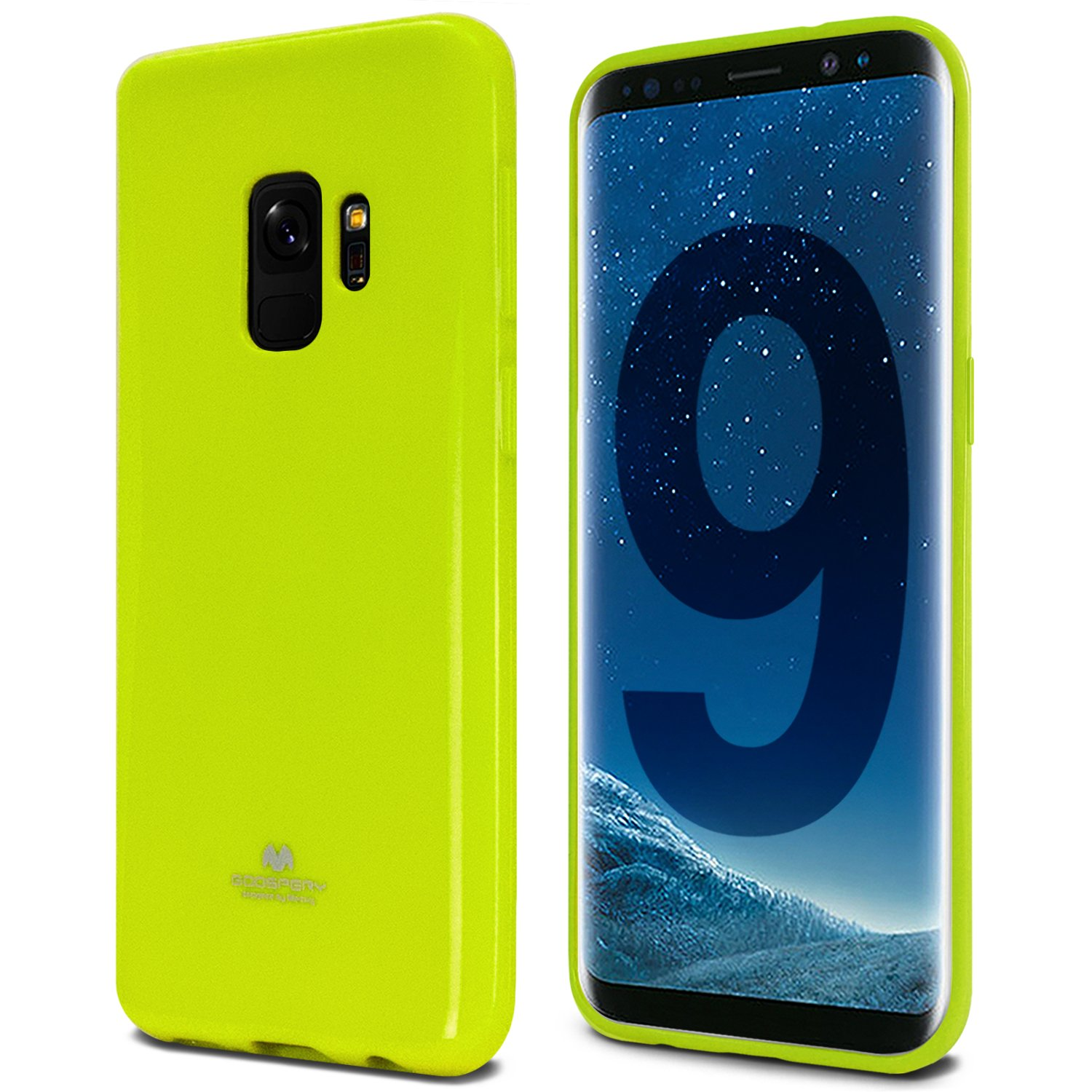 Galaxy S9 Case Thin Slim Goospery Flexible Pearl Samsung New Bumper X Black Jelly Rubber Tpu Lightweight Cover Impact Resistant For