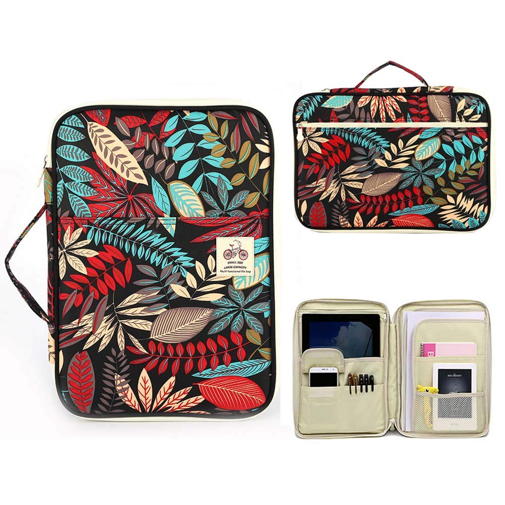 GSYDFSD Multi-Functional A4 Document Office Organizer Bag Waterproof Travel Pouch Stationery Notebook Mobile Phone Storage Bag