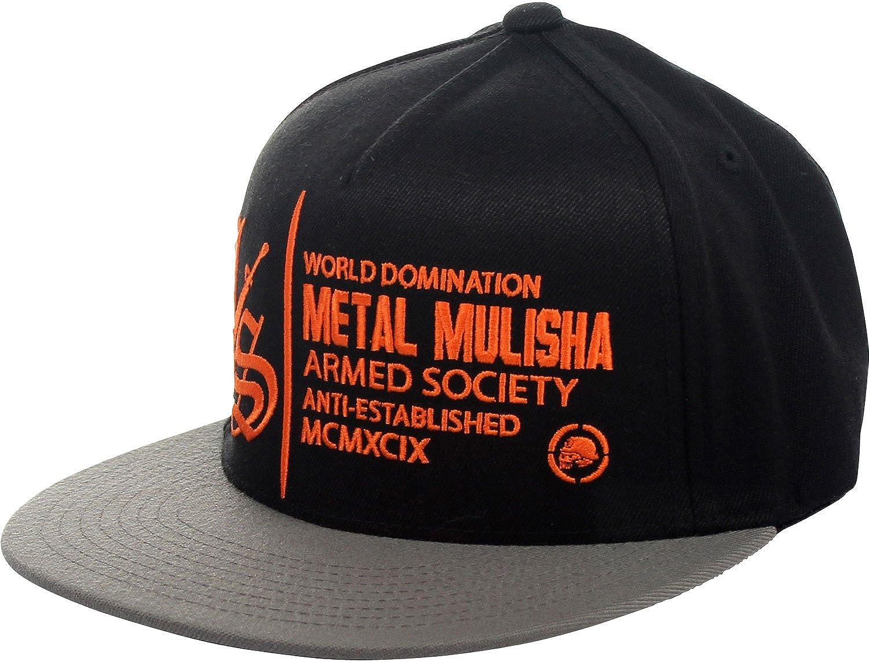 Metal Mulisha - Gorra de béisbol Impacto Black W/ Orange: Amazon ...