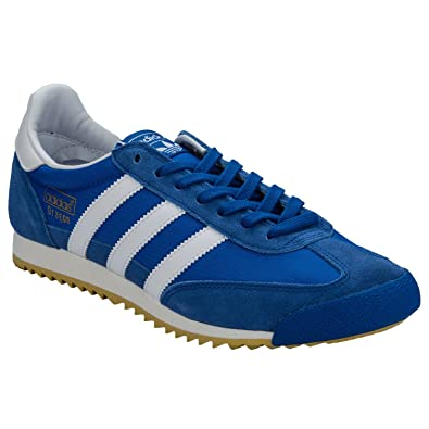 64debd1dd60eac adidas Mens Originals Mens Dragon Vintage Trainers in Blue-White - UK 4.5
