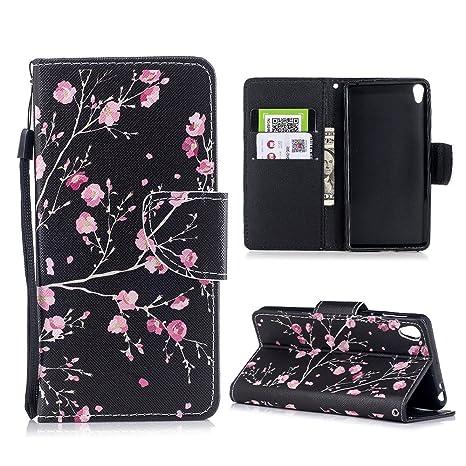 Mosoris Funda Sony Xperia E5, PU Leather Flip Cover + Silicona Interna Carcasa, Case con Cierre Magnético y Función de Soporte, Ranuras para Tarjetas ...