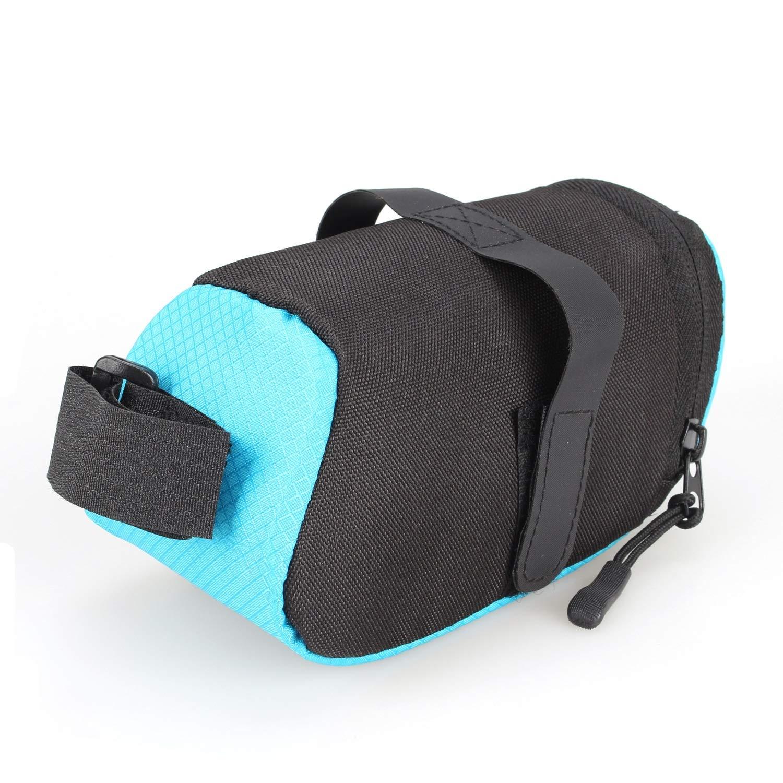 Color : Black, Size : 15 * 7 * 7CM Cvxgdsfg Mountainbike Heckpaket Rennrad Sitzkissen Autositz Reitsack Ausr/üstung Fahrradzubeh/ör Satteltasche Faltschwanztasche