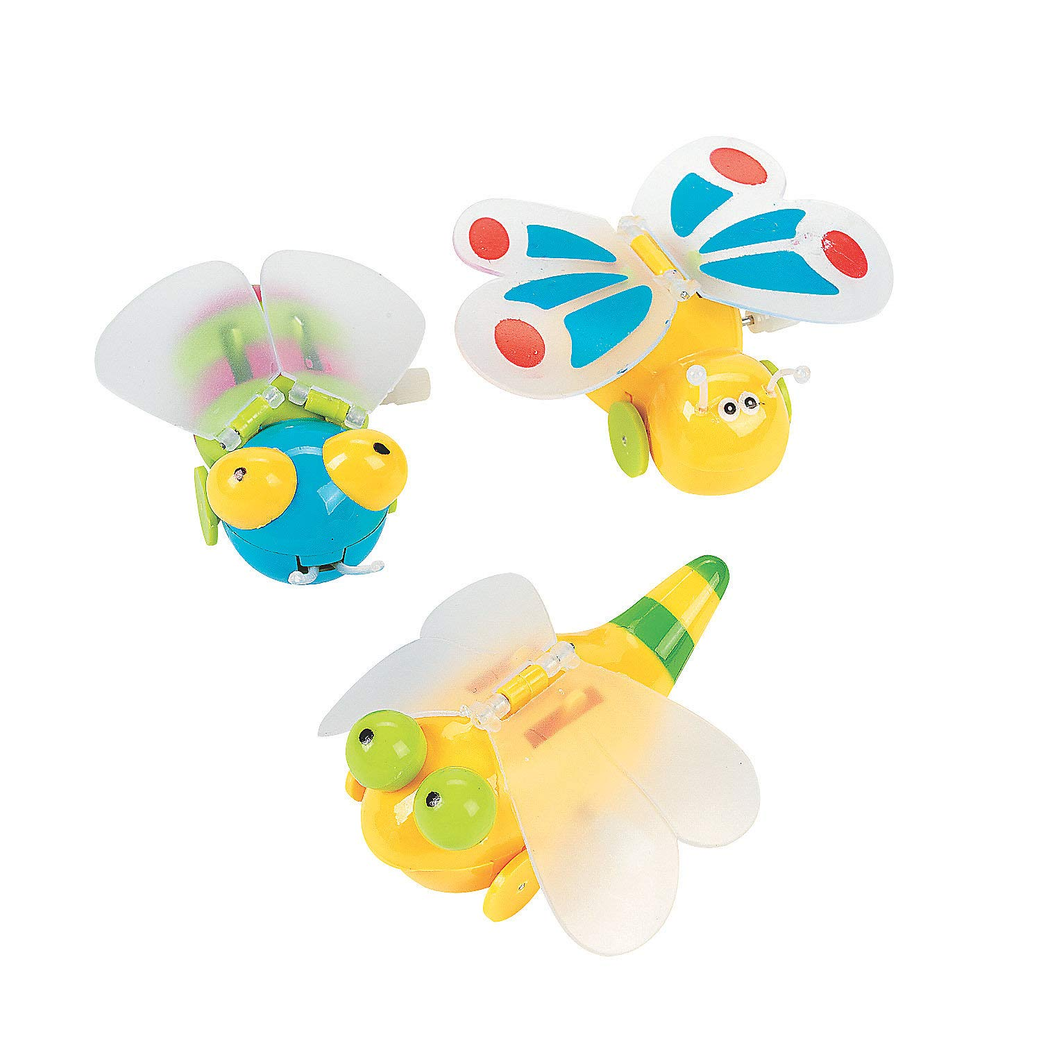 Fun Express - Wind-Up Flying Bugs - Toys - Character Toys - Wind Ups & Paratroopers - 12 Pieces by Fun Express