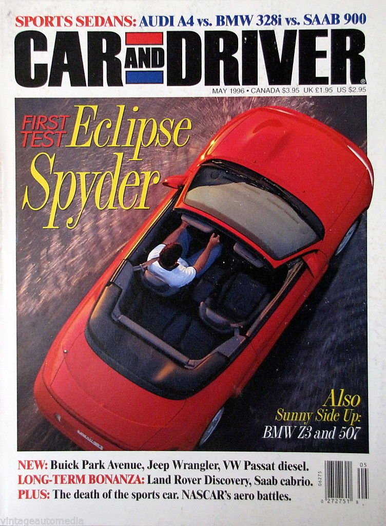 Car and Driver, First Test: Eclipse Spyder - May 1996 Single Issue Magazine