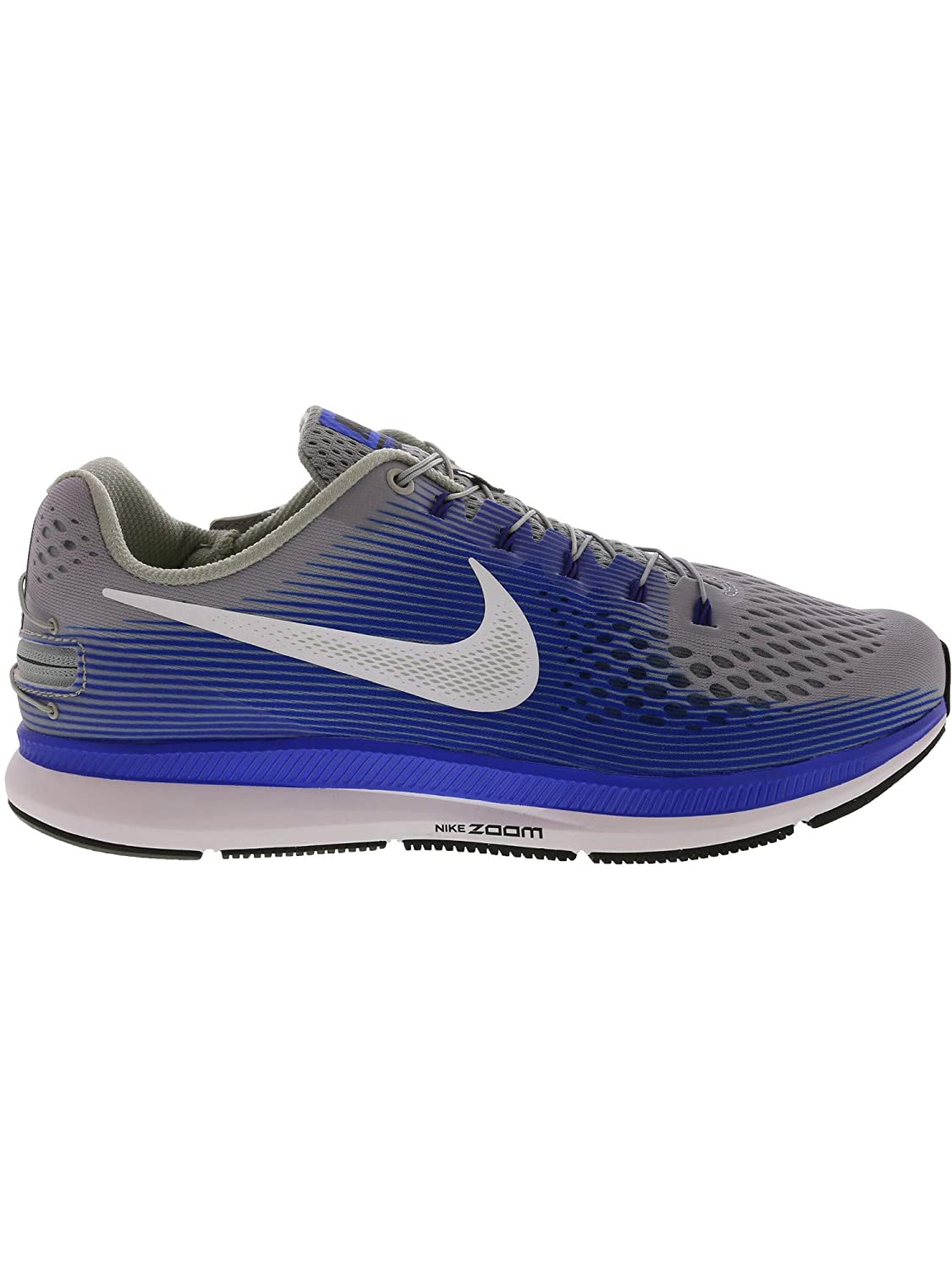 b77b59b45252b NIKE Men's Air Zoom Pegasus 34 Flyease Wolf Grey/White - Racer Blue  Ankle-High Running Shoe 9M
