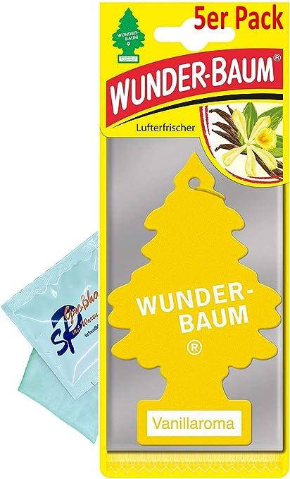 Wunder Baum 5 Stück Vanille Lufterfrischer Duftbaum Wunderbaum Original Inkl 1 X Reinigungstuch Von Sp Großhandel Gratiszugabe Auto