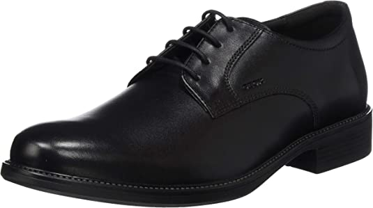 TALLA 43.5 EU Ancho. Geox Uomo Carnaby D, Zapatos de Cuero con Cordones para Hombre