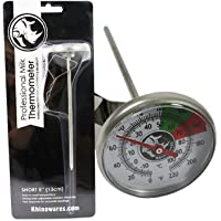 BrewGlobal Rhinoware Digital Thermometer Analog Short Short Silver