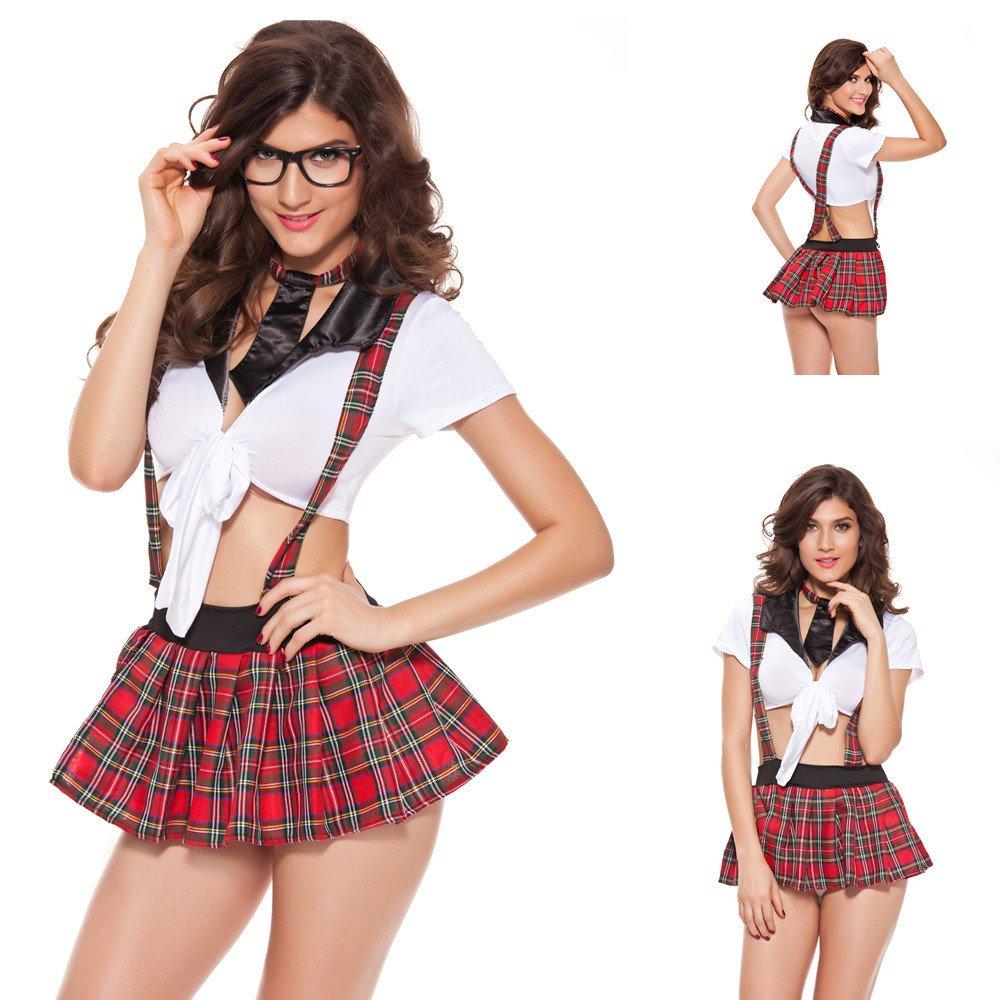73a87138f37 Amazon.com: Cosplay School Student Uniform Sexy Costumes Baby Doll ...