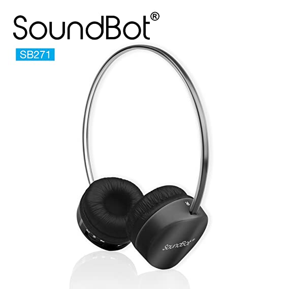 3d2c74a6696 SoundBot® SB271 Stereo Bluetooth 4.1 (Latest Version) Wireless Headphone  for Music Streaming &