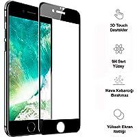 "Mobilestore iPhone XS Max-XR-X-8-7-6s Plus 5D Tam Ekran Koruyucu Cam (iPhone 6s-6 (4.7""), Siyah)"