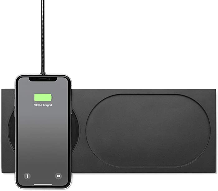 Native Union Block Wireless Charger - [Qi Certified] Valet Tray and Fast-Charging Pad Compatible with iPhone 12/12 Pro/12 Pro Max/11/11 Pro/11 Pro Max with 6.5 ft Cable (Black)