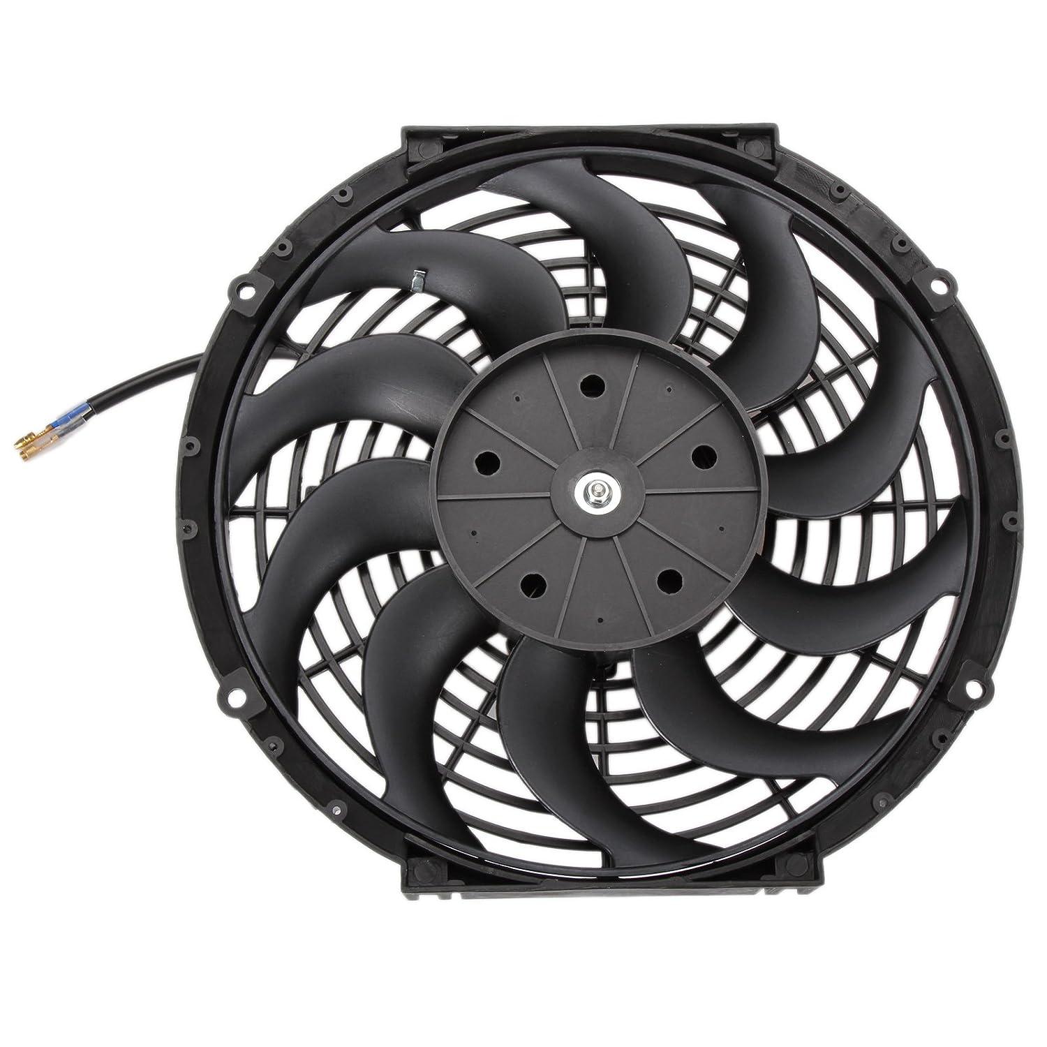 tensione 12/V Dromedary sottile diametro 30,5/cm ventola di raffreddamento per radiatore elettrico potenza 80 W