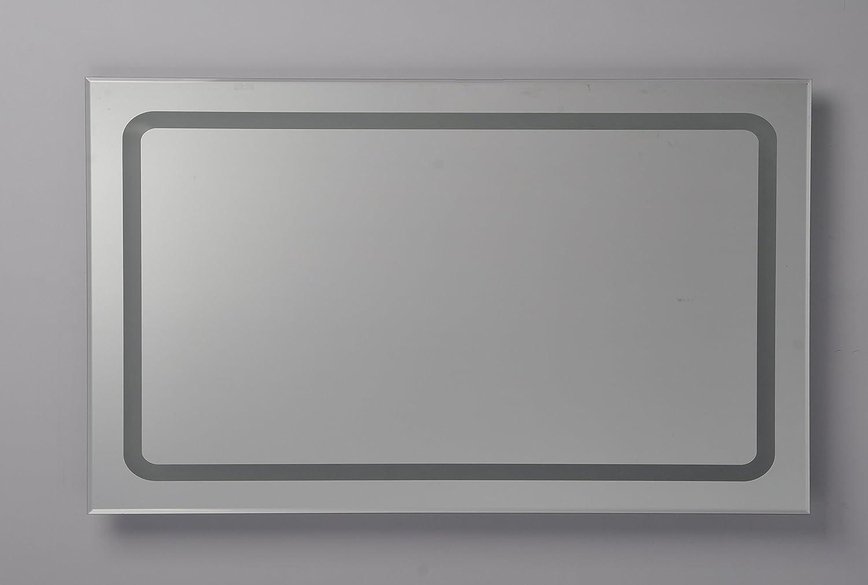 M.S.I International Line Badspiegel mit LED 100x65cm mit Knopfschalter